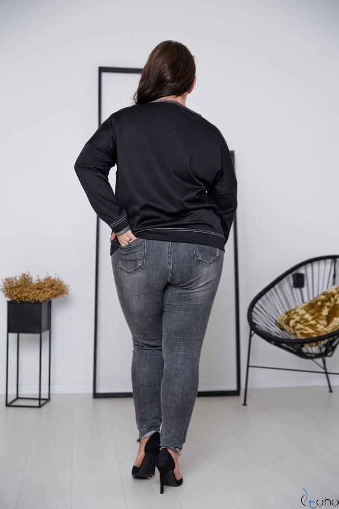 Black-Silver Sweatshirt VISION Plus Size