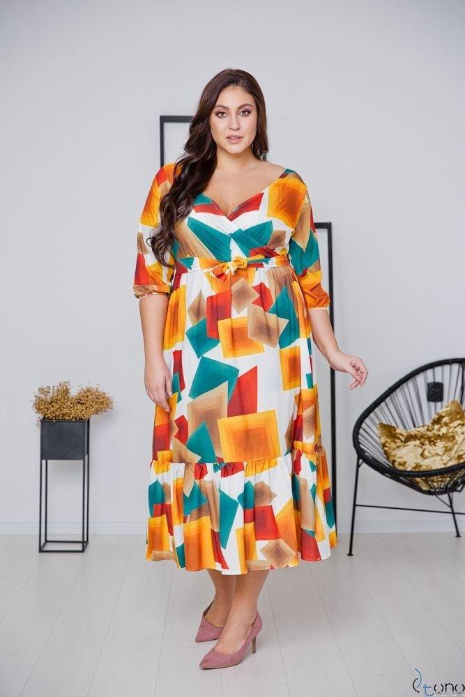 Colorful Dress TRIANA Plus Size