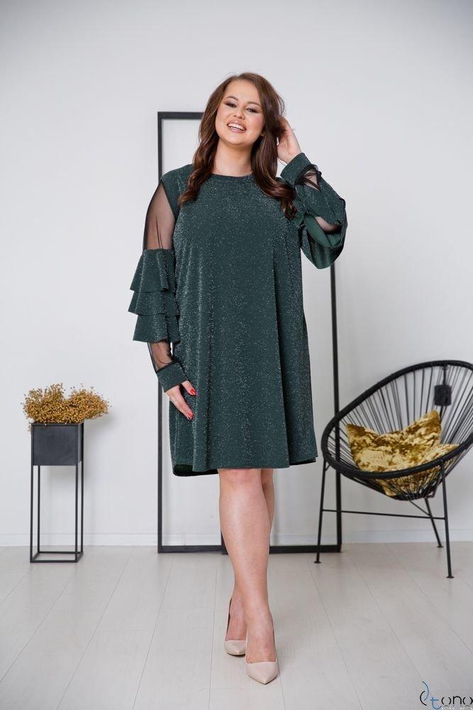 Green Dress CATIVA Plus Size