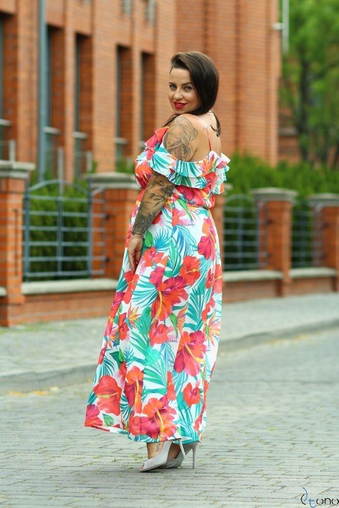 Multicolor Dress DOREN Plus Size