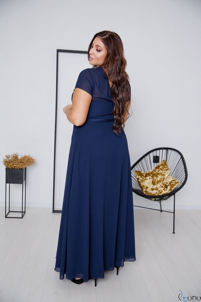 Navy Dress FORTALES Plus Size