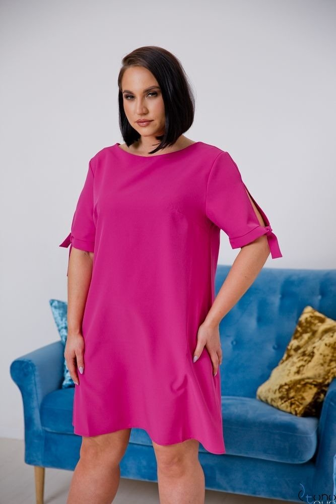 Pink Dress SAFANA Plus Size