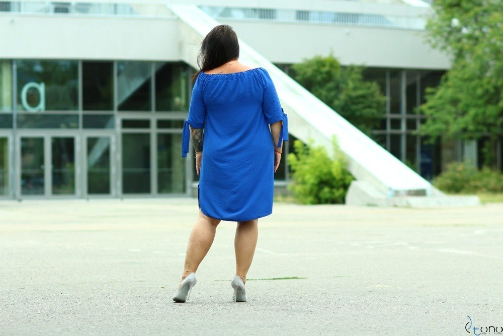 Cornflower Dress VALENCIA Plus Size