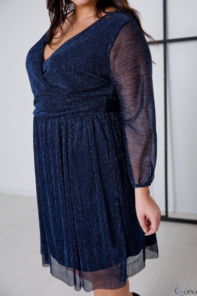 Navy Dress NIKOLLA Plus Size