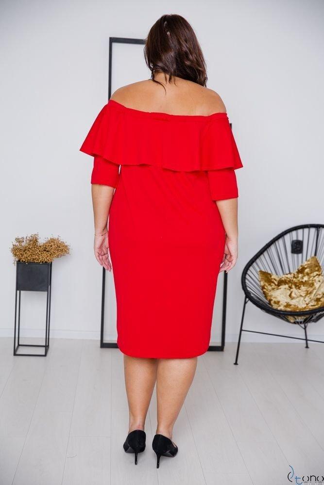 Red Dress ALBETTA Plus Size