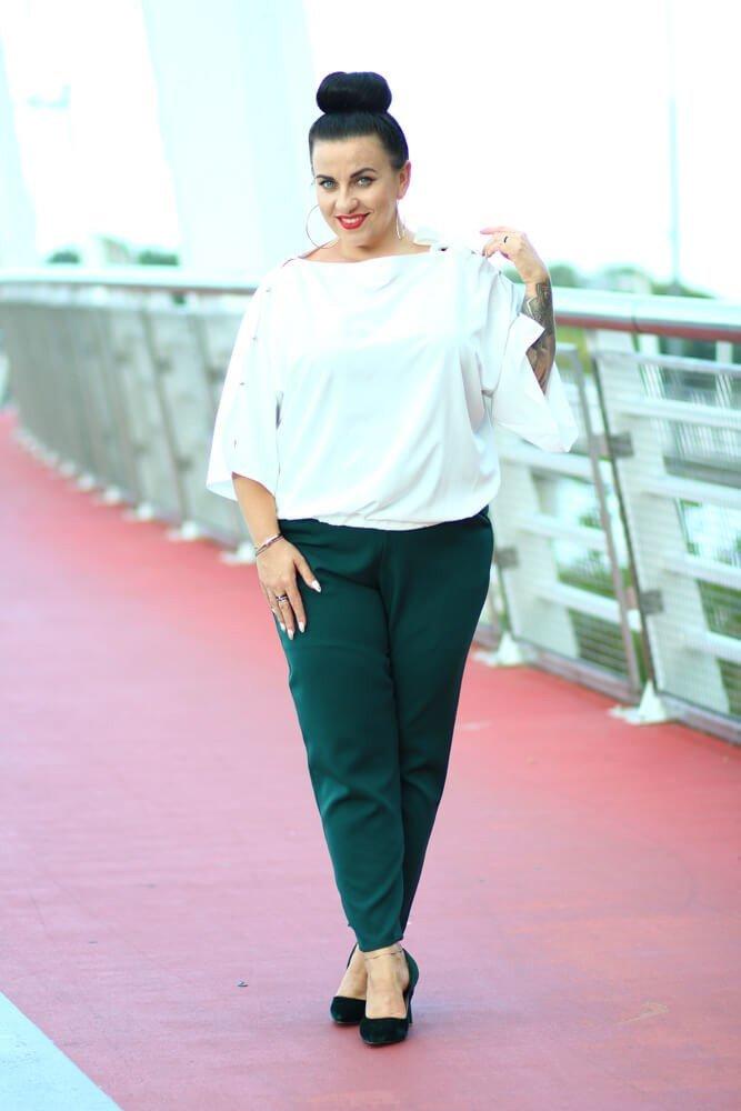fc5685dd6b Biała Bluzka PERSY Plus Size Elegancka ✅ darmowy odbiór w punckie i ...