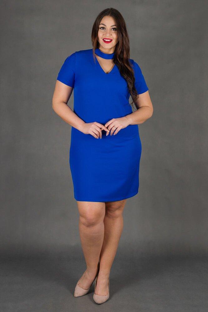e363cd1032 Chabrowa Sukienka CASCADA Trapezowa Plus Size ✅ darmowy odbiór w ...