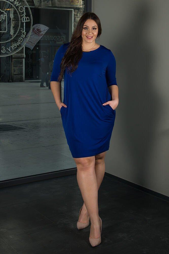 abccac4d44 Chabrowa Sukienka RAISA-M Plus Size ✅ darmowy odbiór w punckie i ...