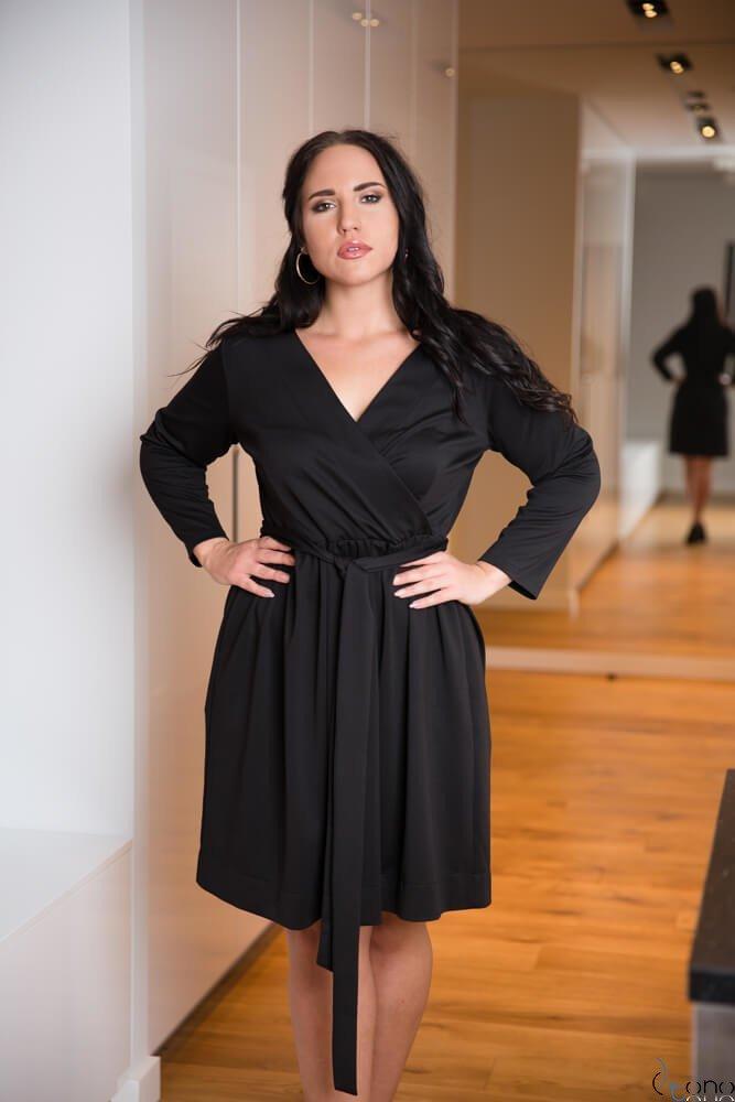 8fe73e1db3 Czarna Sukienka MAKAN Kopertowa Plus Size ✅ darmowy odbiór w ...