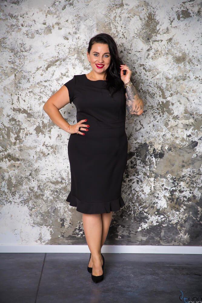 c53fcdaaaa Czarna Sukienka PAOLA Plus Size ✅ darmowy odbiór w punckie i zwrot ...