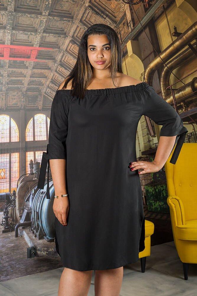 17bd6a4159 Czarna Sukienka VALENCIA Hiszpanka Plus Size ✅ darmowy odbiór w ...