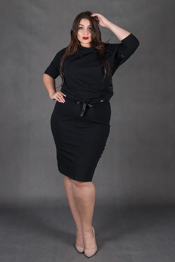 0b7844130a1552 Czarny Komplet RIA Bluzka Spódnica Plus Size Kliknij, aby powiększyć ...