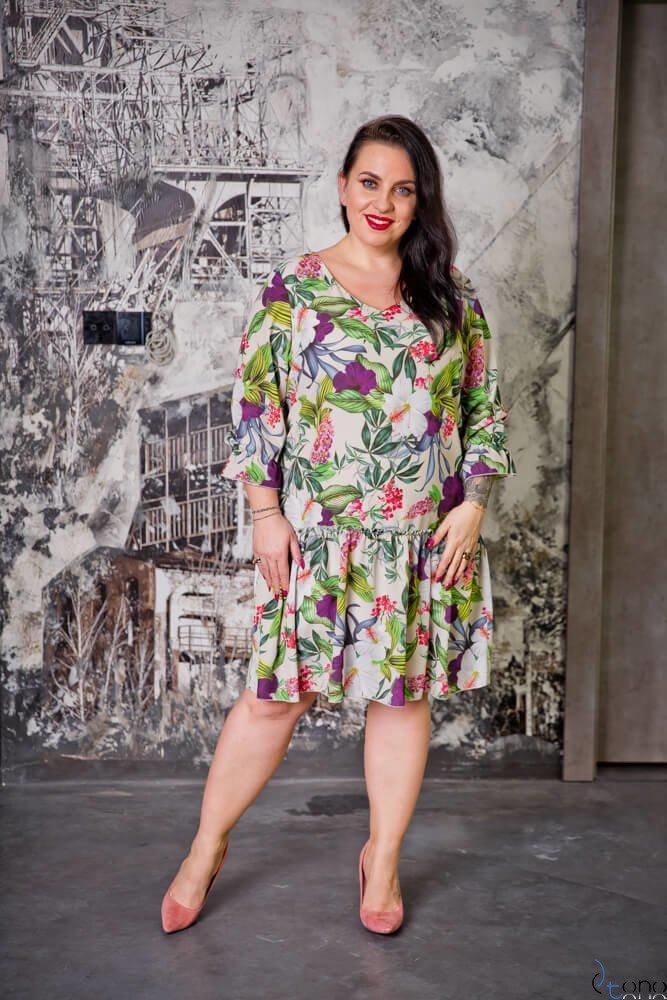 4c51e5d872 Kolorowa Sukienka SARA Plus Size ✅ darmowy odbiór w punckie i zwrot ...