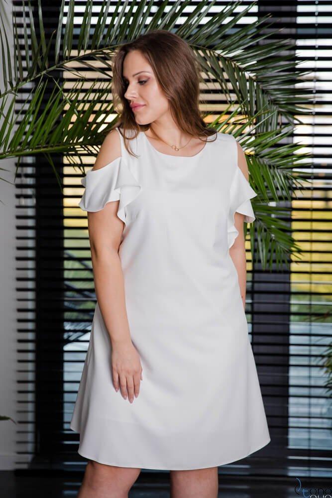 503dc151fa Sukienka BARBIE Plus Size Ecru ✅ darmowy odbiór w punckie i zwrot ...