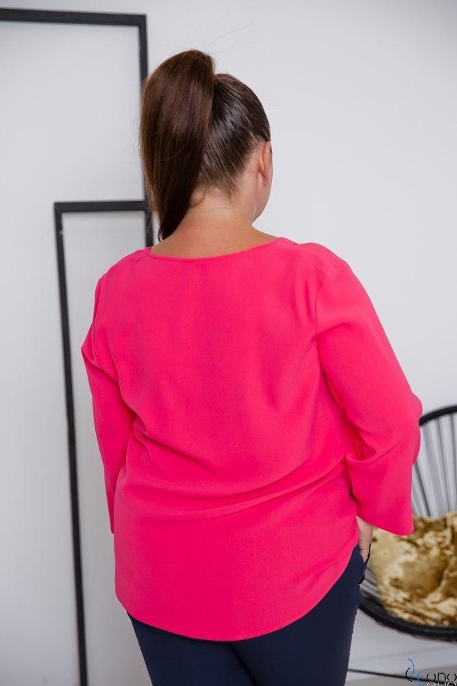 Amarantowa Bluzka RAFAELA Plus Size