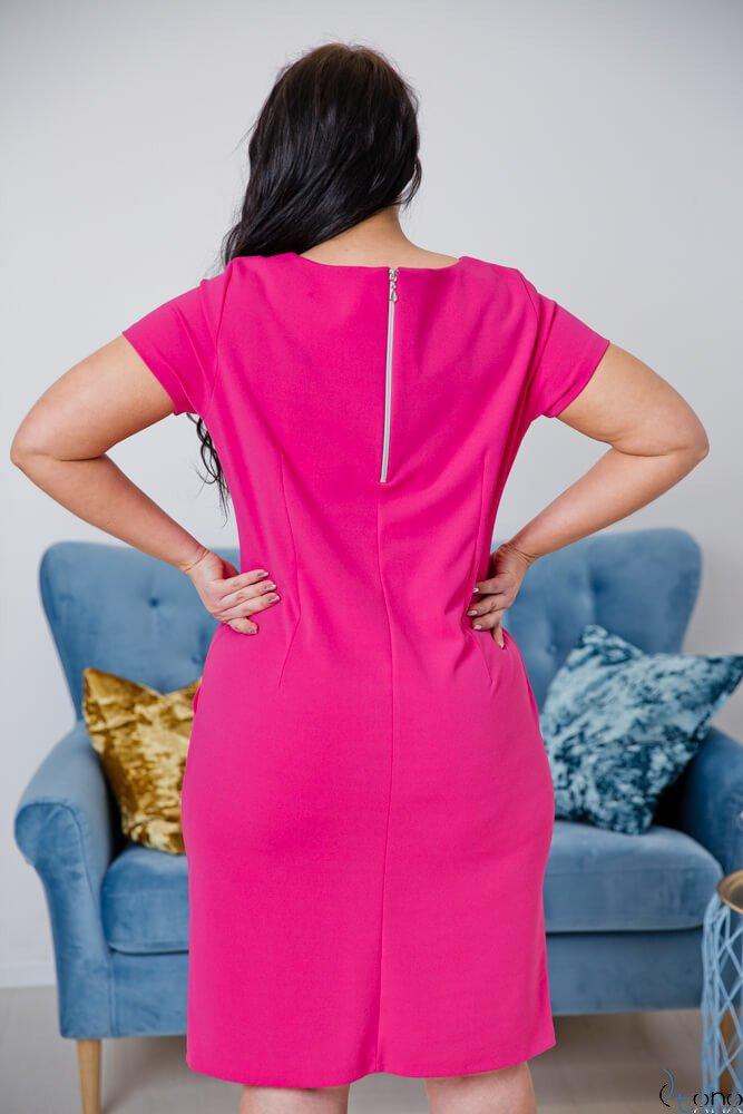 Amarantowa Sukienka EJMY Plus Size