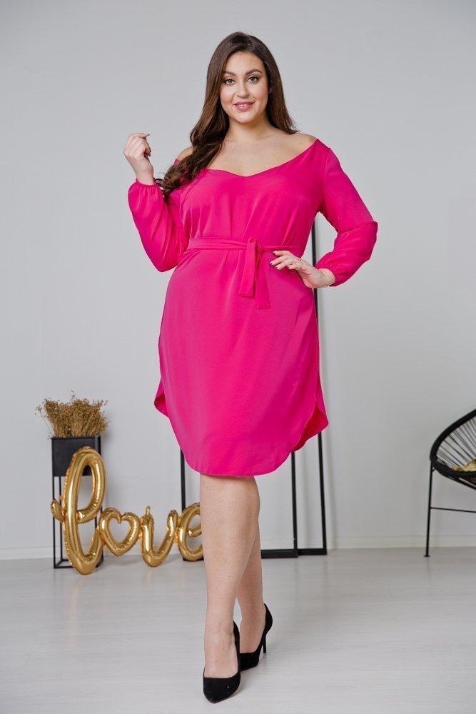 Amarantowa Sukienka TIANA Plus Size