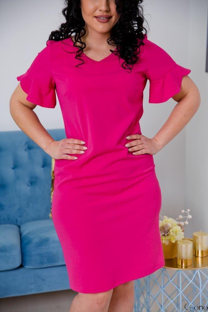 Amarantowa Sukienka VELMA Plus Size
