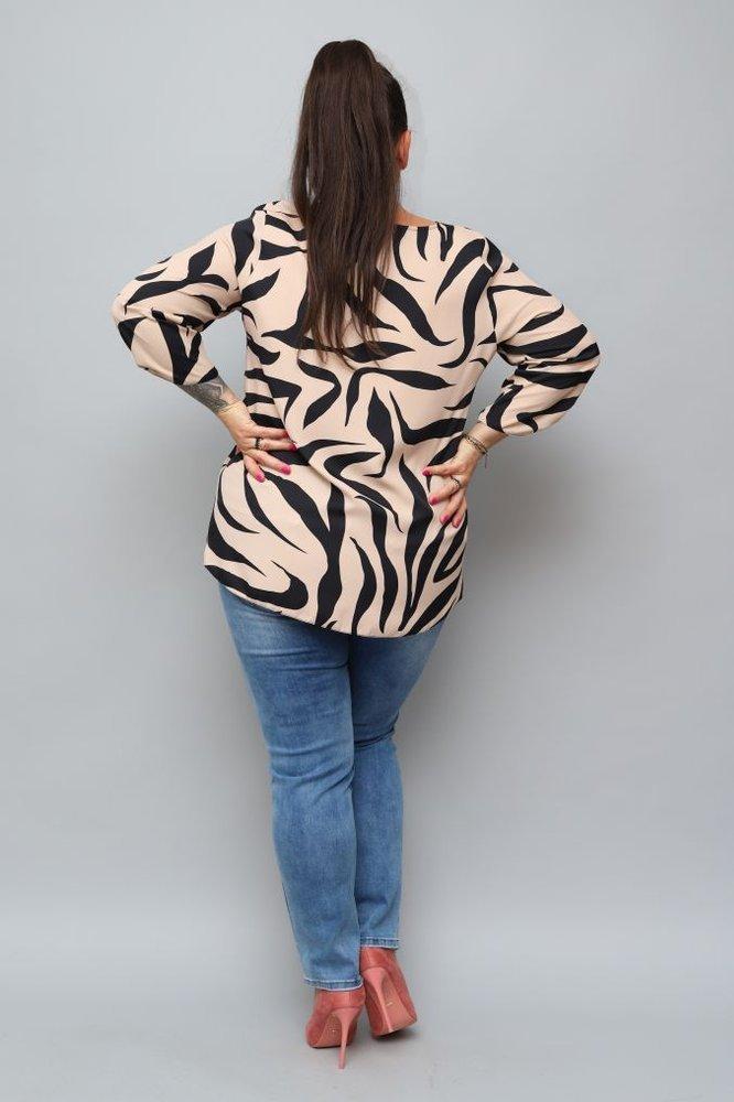 Beżowa Bluzka ZABREA Plus Size