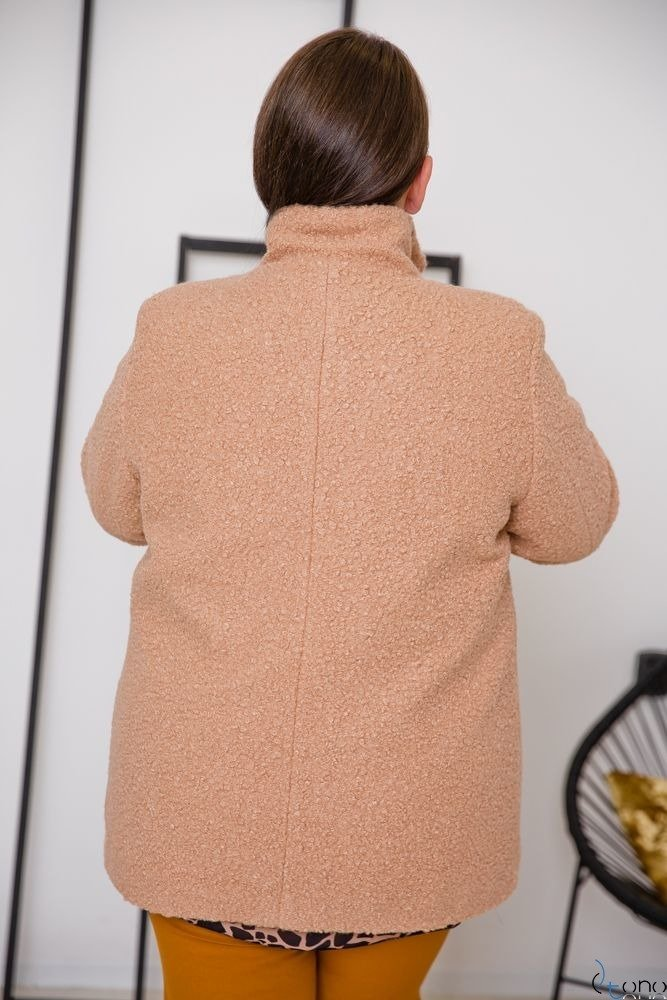 Beżowy Płaszcz SALEN Plus Size