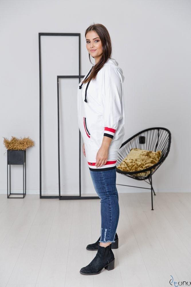 Biała Bluza CORDA Plus Size