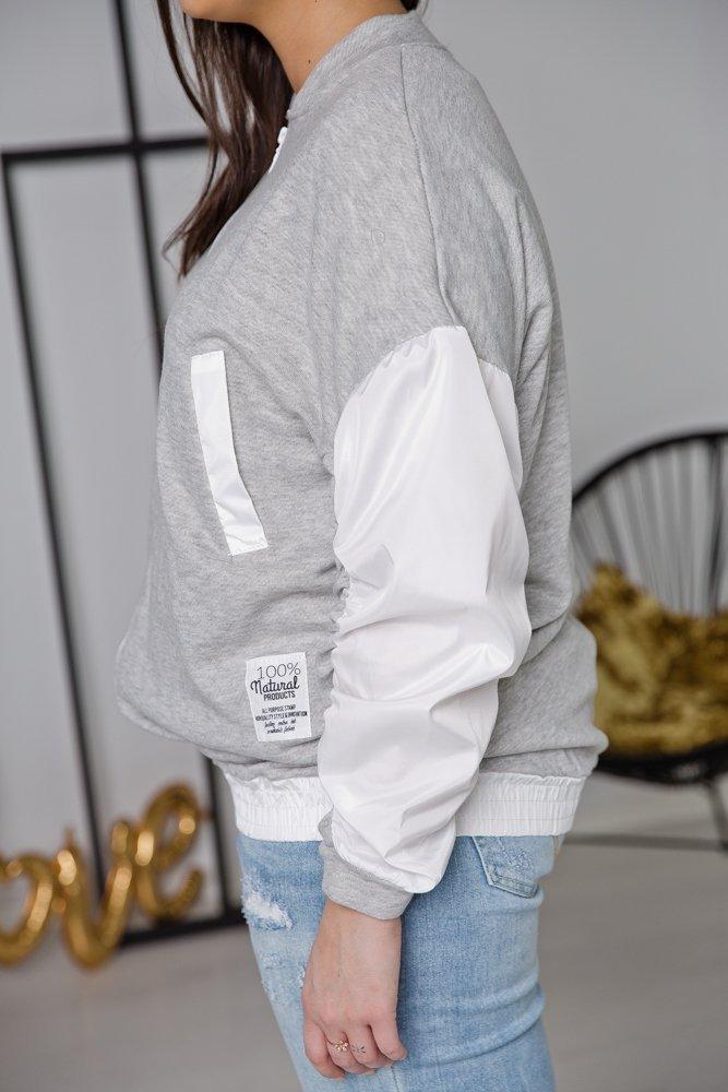 Biała Bluza SPORTY Plus Size