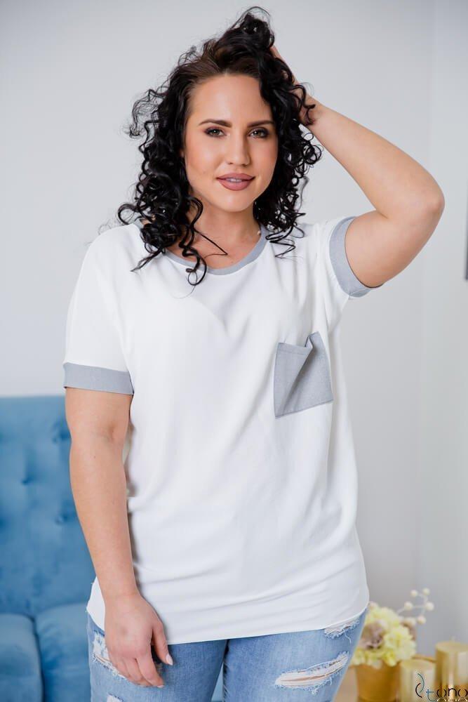 Biała Bluzka  CAREN Plus Size