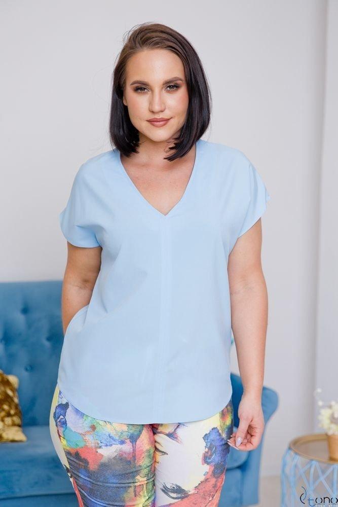 Niebieska Bluzka COVER Plus Size