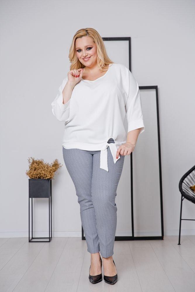 Biała Bluzka PANEA Plus Size