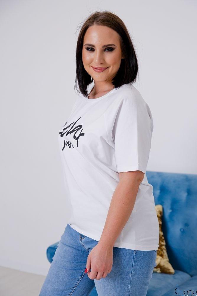 Biała Bluzka RELAX Plus Size