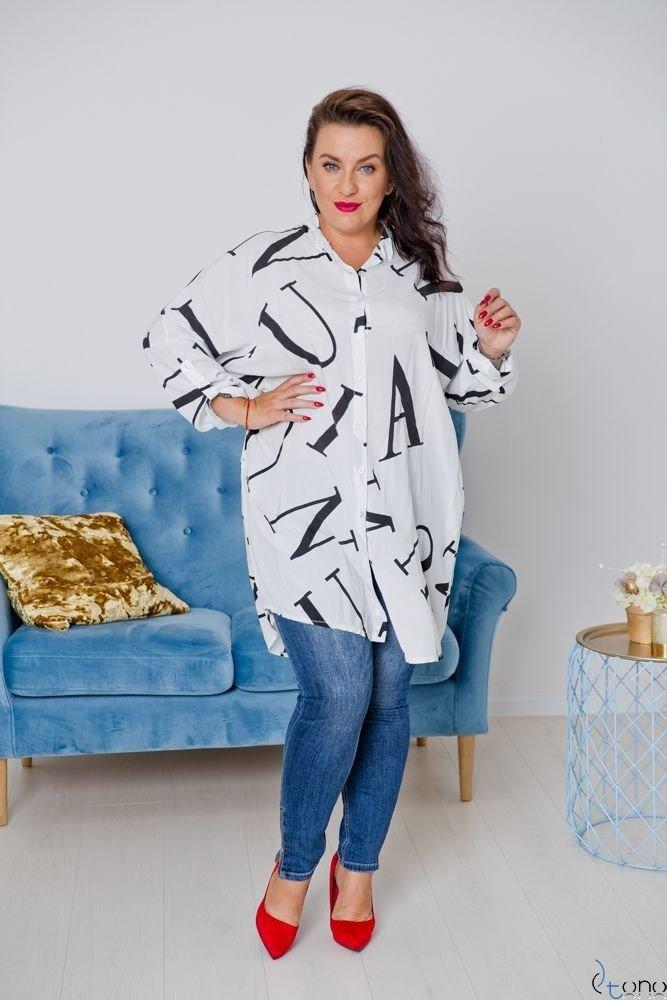 Biała Koszula PAROLLA Plus Size