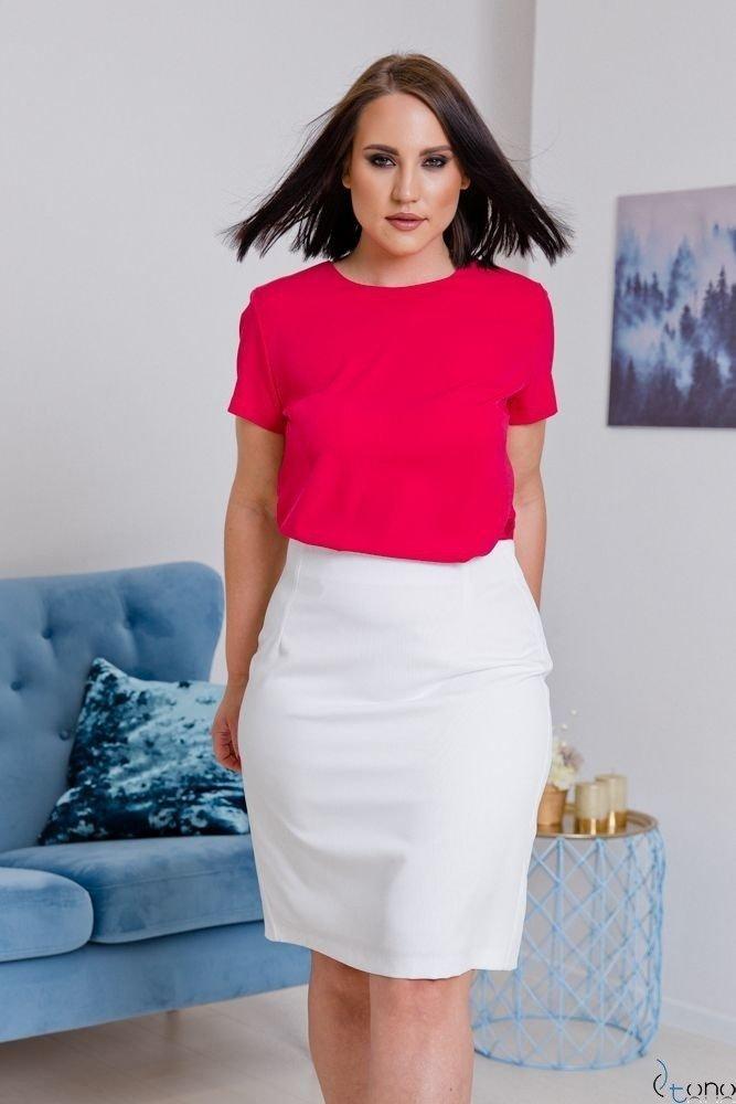 Biała Spódnica DEBBY Plus Size
