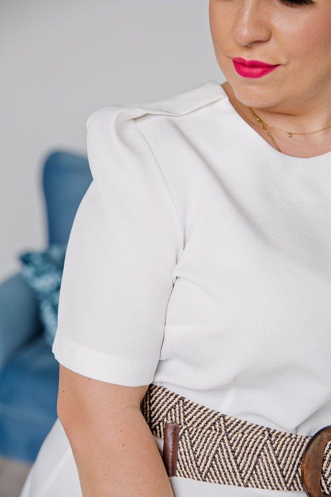 Biała Sukienka LILY Plus Size