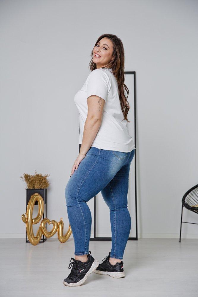 Biało-złota Bluzka ORTIS Plus Size