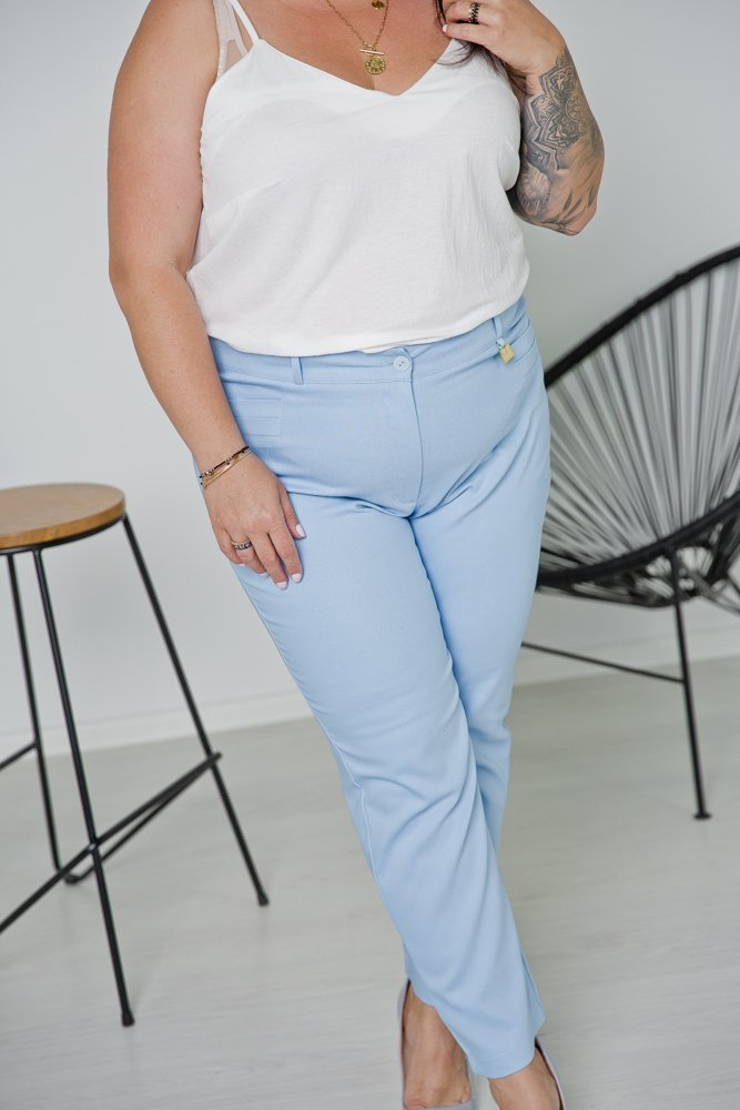 Błękitne Spodnie VIZON Plus Size