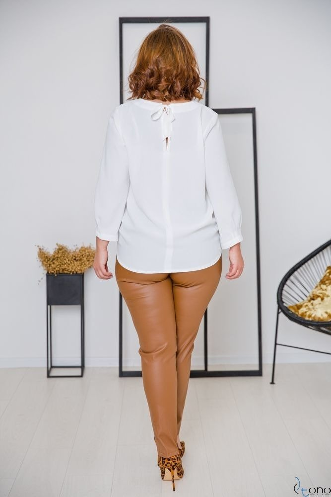 Bluzka AUROSIA Ecru Plus Size