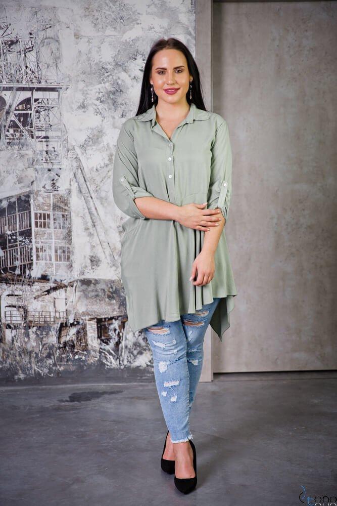 Bluzka CODINA Khaki Plus Size