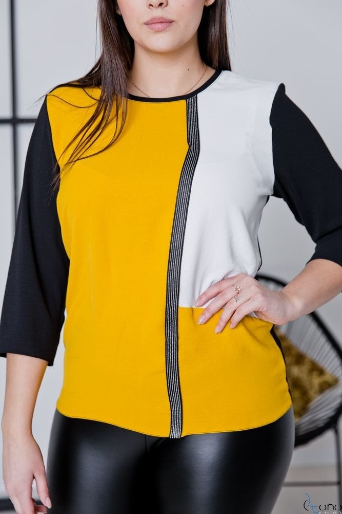 Bluzka MELAN Plus Size Wzór W1