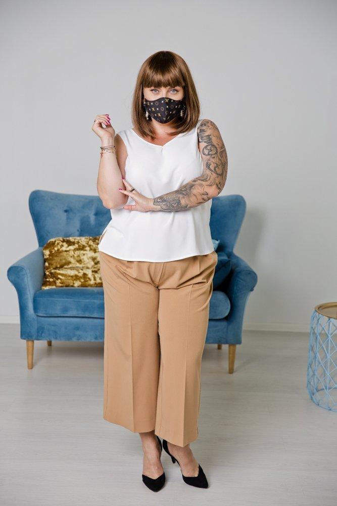 Brązowa Bawełniana Maseczka Maska Wielorazowa Wzór 5