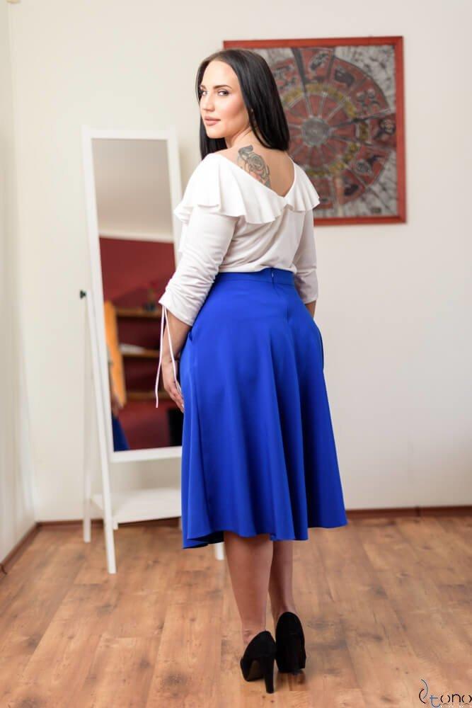 Chabrowa Spódnica LAMES Plus Size