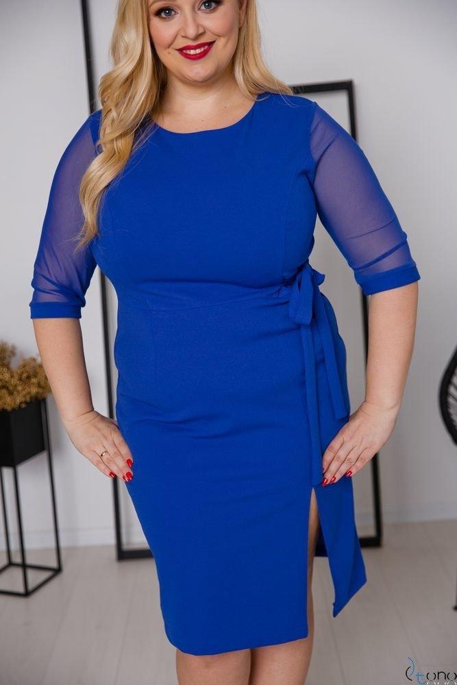 Chabrowa Sukienka CRAVATTA Plus Size
