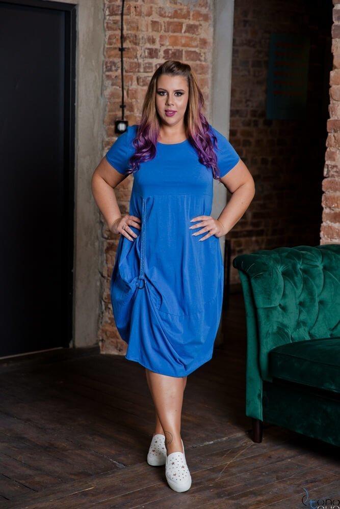 Chabrowa Sukienka ROLER Plus Size