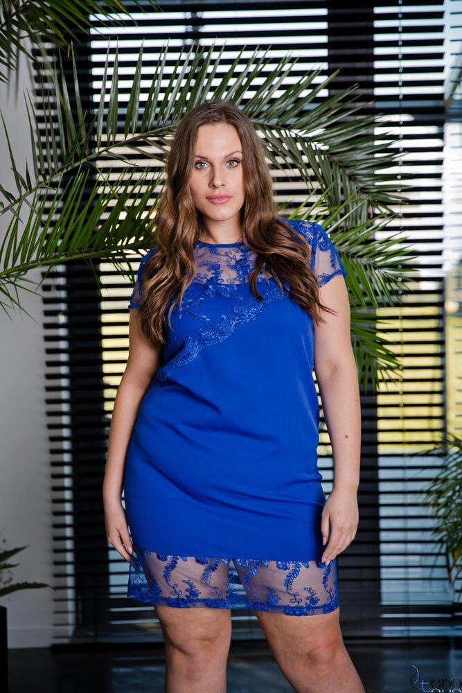 Chabrowa Sukienka ROTARIA Plus Size