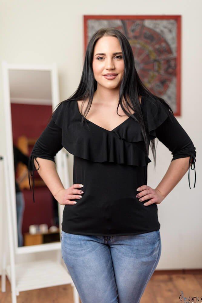 Czarna Bluzka Filona Plus Size