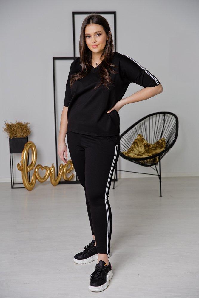 Czarna Bluzka TRISA Plus Size