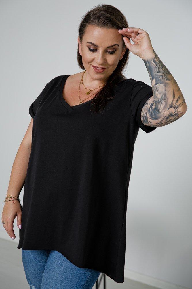 Czarna Bluzka ZENDA Plus Size