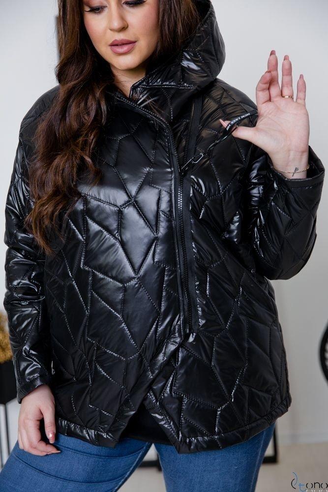 Czarna Kurtka BRAVITY Plus Size