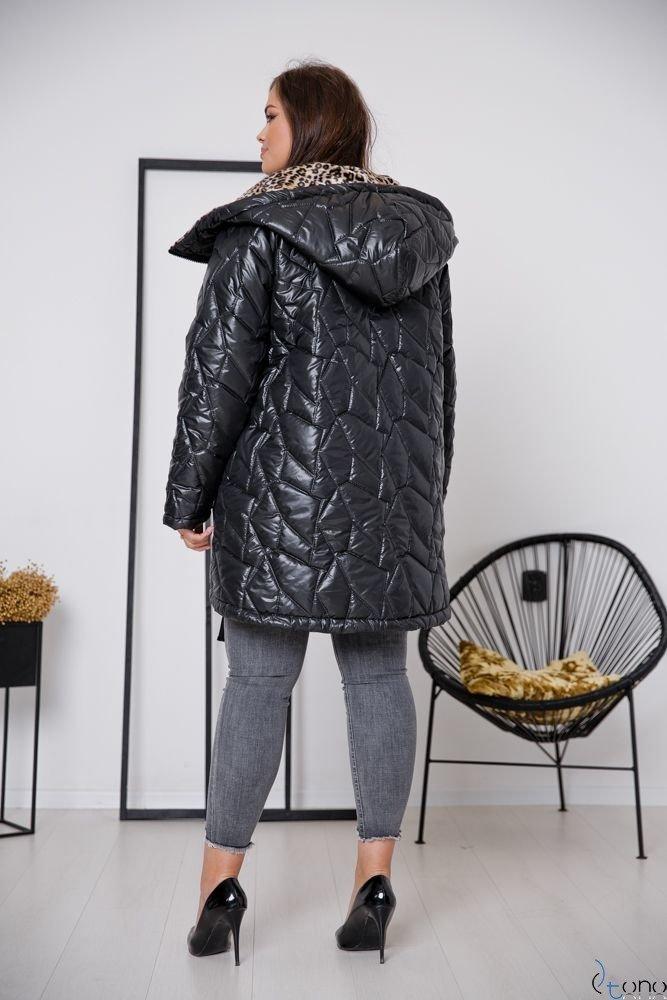 Czarna Kurtka SOLIDA Plus Size