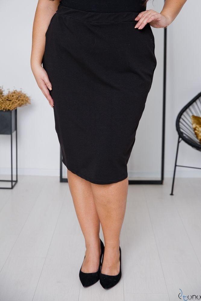 Czarna Spódnica ADELLA Plus Size