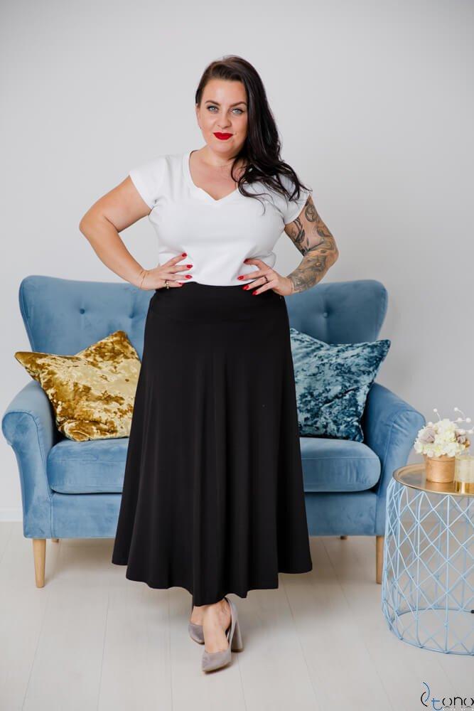Czarna Spódnica CELINA Plus Size